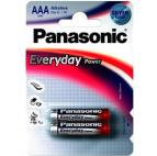 Батарейка Panasonic EVERYDAY POWER AAA BLI 2 ALKALINE (LR03REE/2BR)
